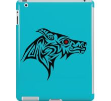 Dark Wolf profile iPad Case/Skin