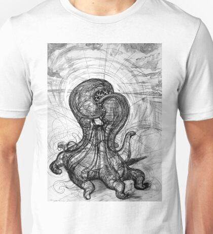 The Technological Singularity, (Drawing of a Sculpture) Unisex T-Shirt