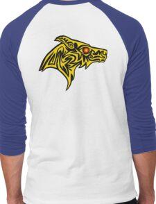 Gold wolf of the ember eye Men's Baseball ¾ T-Shirt