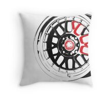 Black and Red Rim Throw Pillow
