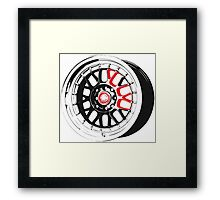 Black and Red Rim Framed Print