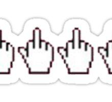 middle finger cursor Sticker