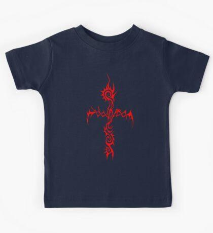 Red Thorn Cross Kids Tee