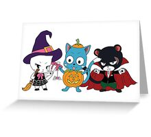 Fairy Tail Halloween Costumes Greeting Card