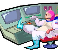 Astronaut In Command Center by kwg2200
