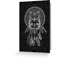 indian native Owl Dream catcher Greeting Card