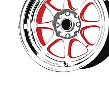 8 spoke red and black rims by TswizzleEG