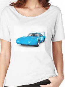 1970 Plymouth Superbird retro race car art photo print Women's Relaxed Fit T-Shirt