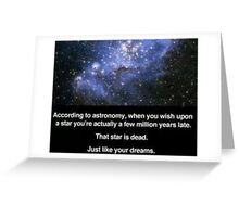 When You Wish Upon A Star - Hatecard Greeting Card