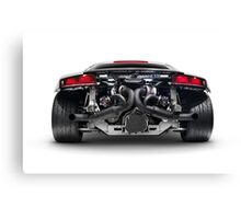 Audi Quattro R8 Turbo sports car rear view with exposed engine art photo print Canvas Print