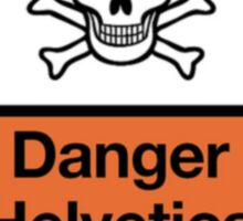 Danger Helvetica Sticker