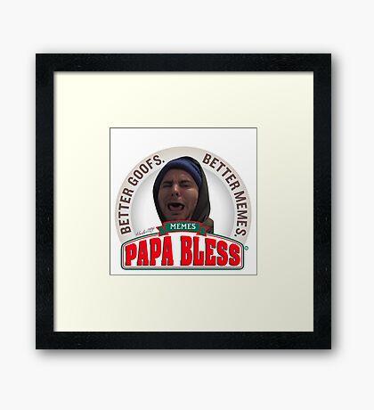 Papa Bless Framed Print