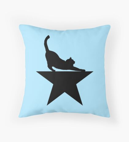 Hamilcat 2.0 for Hamilton Musical Fans Throw Pillow