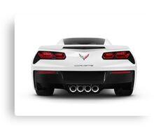 2014 Chevrolet Corvette Stingray sports car rear view art photo print Canvas Print