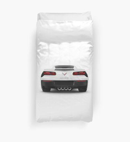2014 Chevrolet Corvette Stingray sports car rear view art photo print Duvet Cover