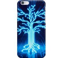 Glowing digital tree circuits conceptual illustration art photo print iPhone Case/Skin