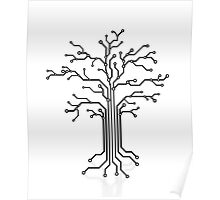 Digital tree circuits concept art photo print Poster