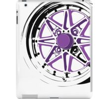 Purple and Black Rim iPad Case/Skin