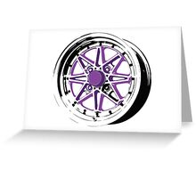 Purple and Black Rim Greeting Card