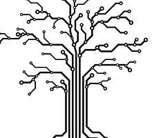 Digital tree circuits concept art photo print by ArtNudePhotos