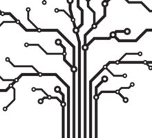 Digital tree circuits concept art photo print Sticker
