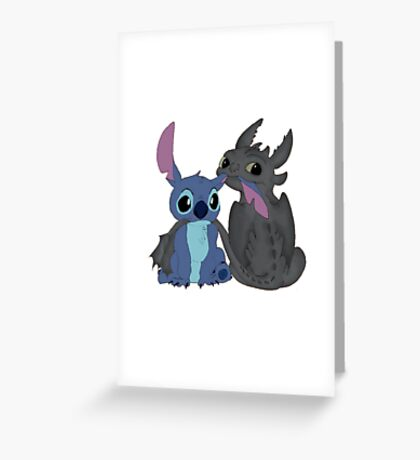 Toothless and Stitch Greeting Card