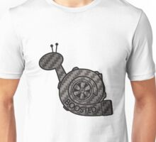Carbon Fibre Boosted Turbo Snail Unisex T-Shirt