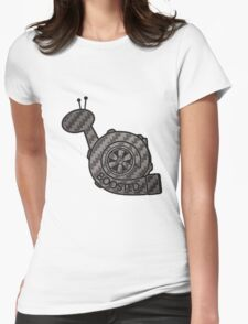 Carbon Fibre Boosted Turbo Snail Womens Fitted T-Shirt