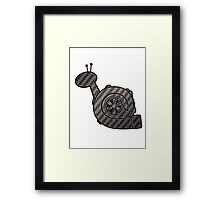 Carbon Fibre Turbo Snail Framed Print