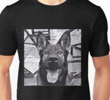 Grey Happy Shepherd Unisex T-Shirt