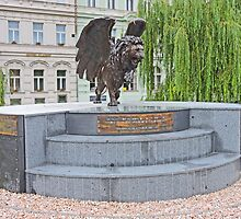 The Winged Lion Monument by Graeme  Hyde