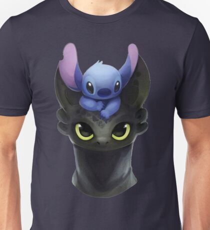 Stitch on Toothless Unisex T-Shirt