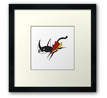 Super Cat to save the Day! Framed Print