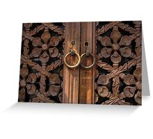 Traditional Korean Wooden Doors - Seoul Greeting Card