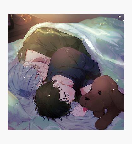 Yuri on Ice [Viktor]  [Yuuri] Bed Photographic Print