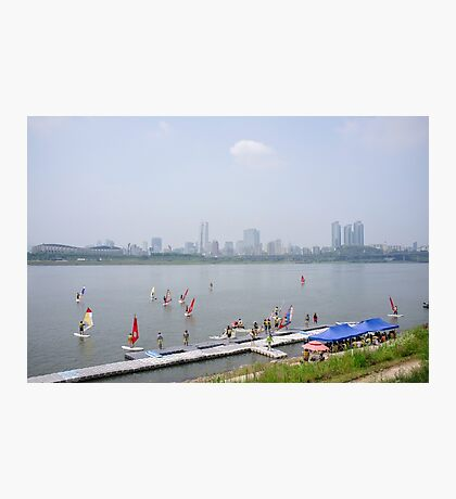 Windsurfers on the Han River Photographic Print
