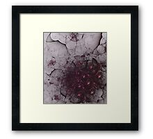 Mysterious and unusual texture with gentle mood-Gothic Framed Print