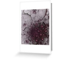 Mysterious and unusual texture with gentle mood-Gothic Greeting Card