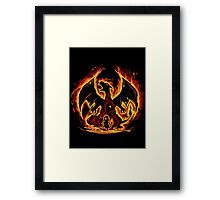 Charizard fire evolutions cool design Framed Print