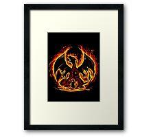 Charizard fire evolutions cool design Framed Print