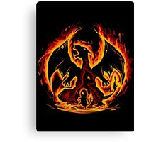 Charizard fire evolutions cool design Canvas Print