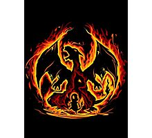 Charizard fire evolutions cool design Photographic Print