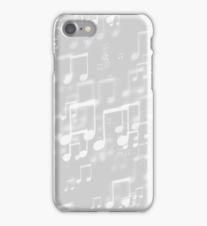 Grey Bokeh Music Notes iPhone Case/Skin