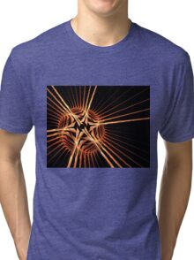 Fun bright geometric abstraction in aggressive style Tri-blend T-Shirt