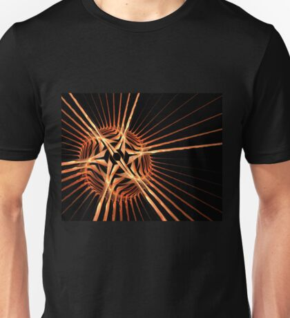 Fun bright geometric abstraction in aggressive style Unisex T-Shirt