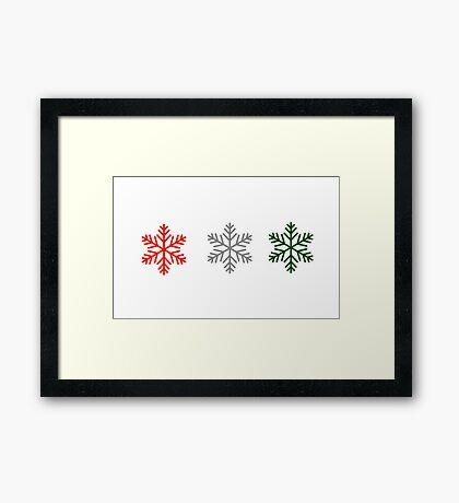 snowflakes for christmas Framed Print