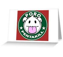 Poro Pentakill - League of Legends Greeting Card