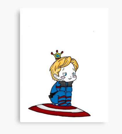 Chibi Captain Rogers Canvas Print