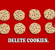 Delete Cookies (Red) by kirbeekatz