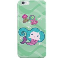 Lil' Blue Mermaid and Jellyfishes iPhone Case/Skin